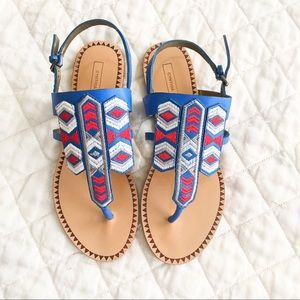 6901099ff NWOB Cynthia Vincent Boho embroidered sandals